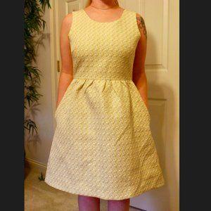 Lily Rose A Line Dress Yellow w Pockets Size US 8